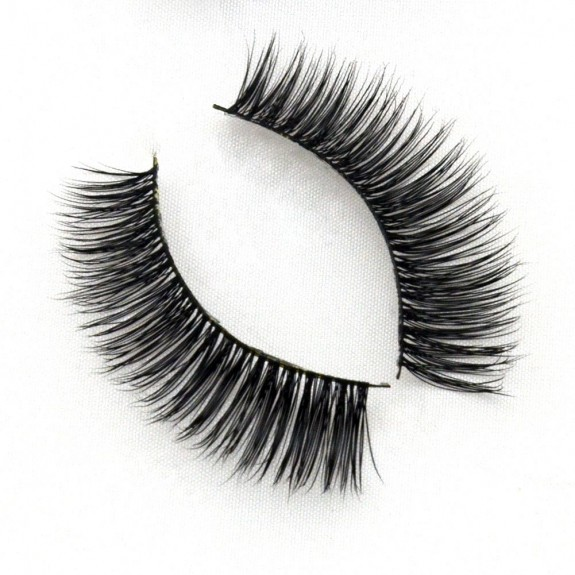 100% Handmade Real Mink Fur 3D Strip Lashes G002