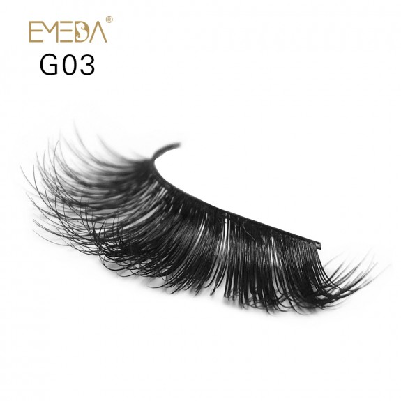 100% Real Mink Fur 3D Strip Lashes G03