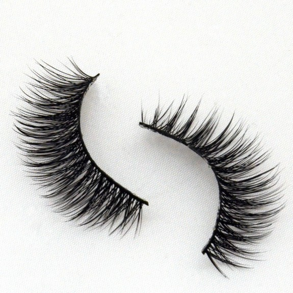 Promotion Handmade Real Mink Fur 3D Strip Lashes G003
