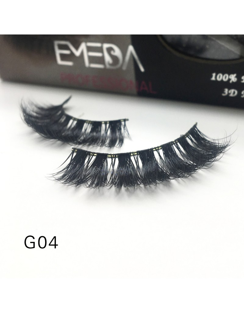 100% Real Mink Fur 3D Strip Lashes G04