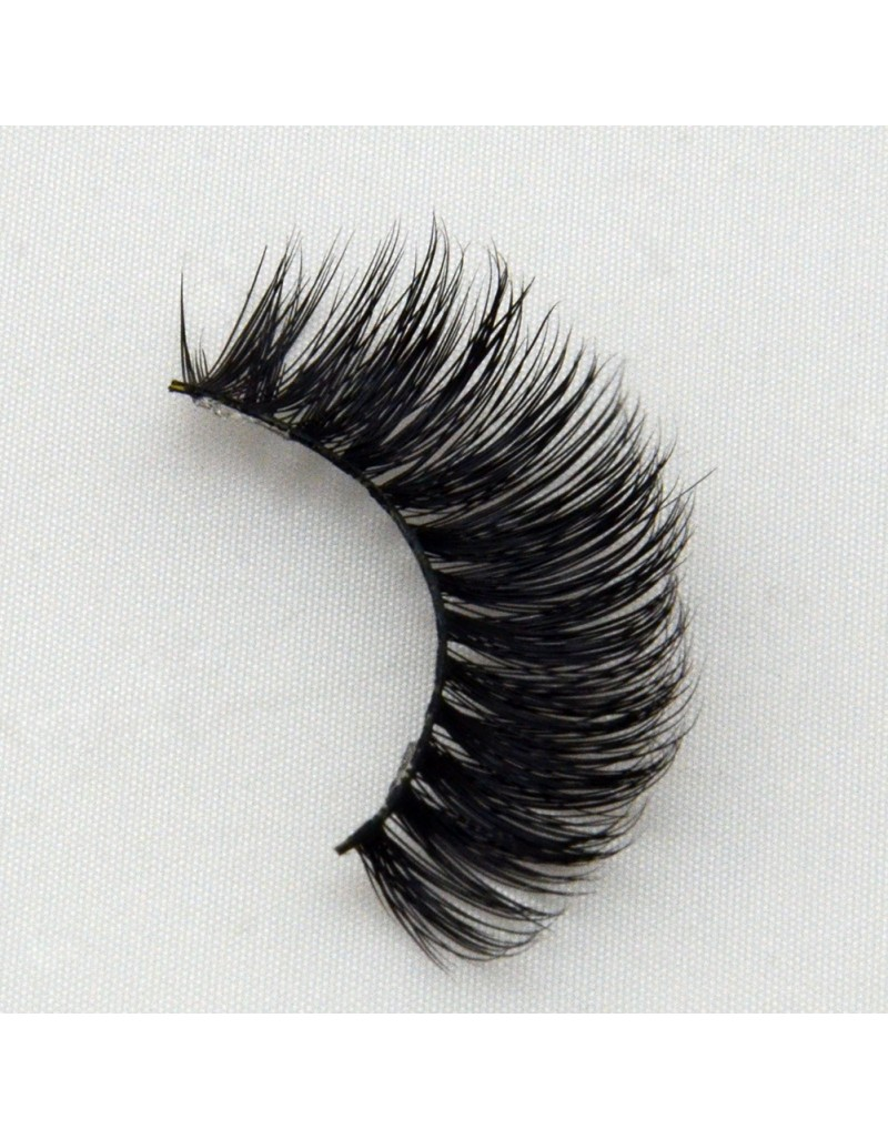 Low Price Real Mink Fur 3D Strip Lashes G004
