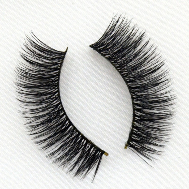 100% Real Mink Fur 3D Strip Lashes Vendor G005