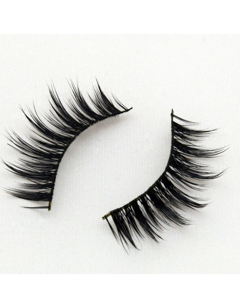 Flirty and Fluttery Round 3D Real Mink Lashes G011