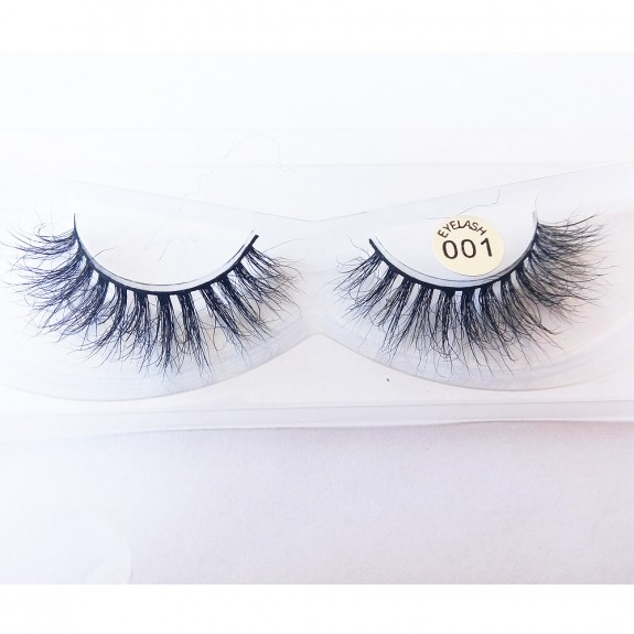 100% Handmade 3D real mink fur Lashes HD001