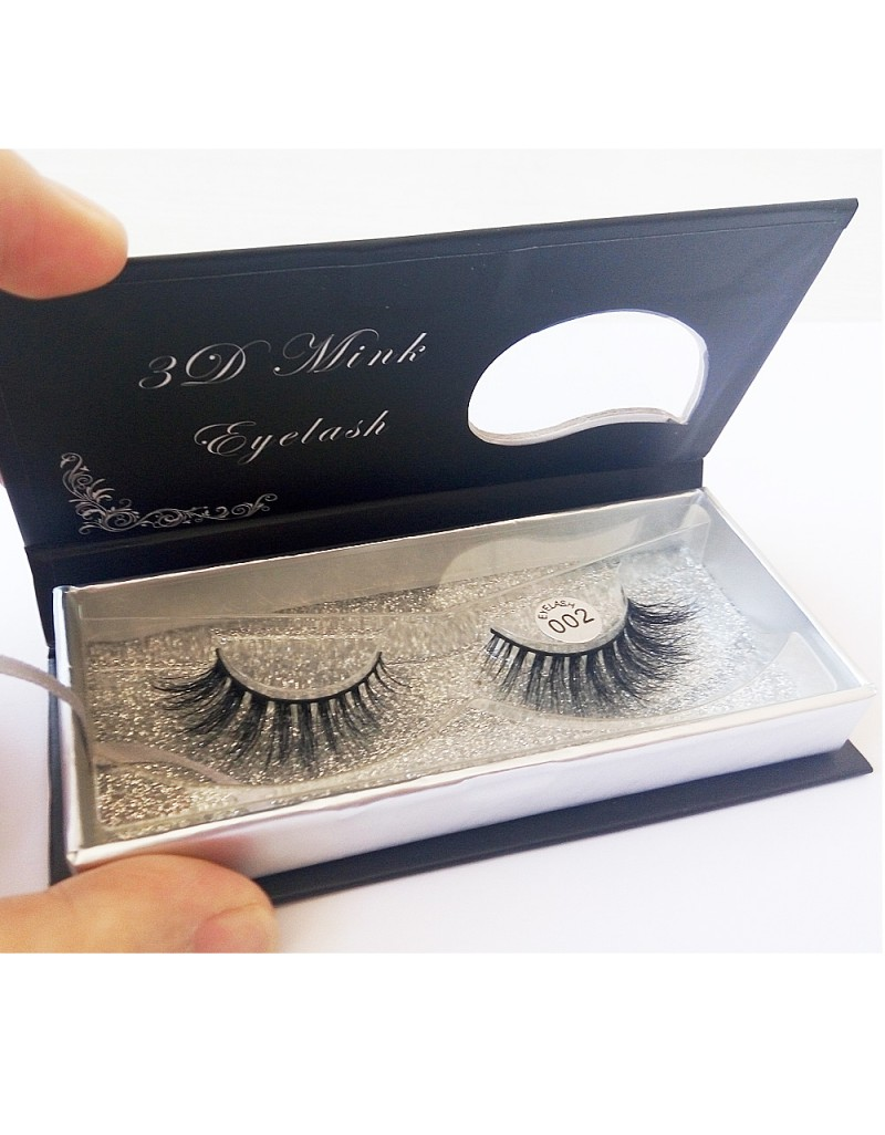100% Handmade 3D real mink fur Lashes HD002