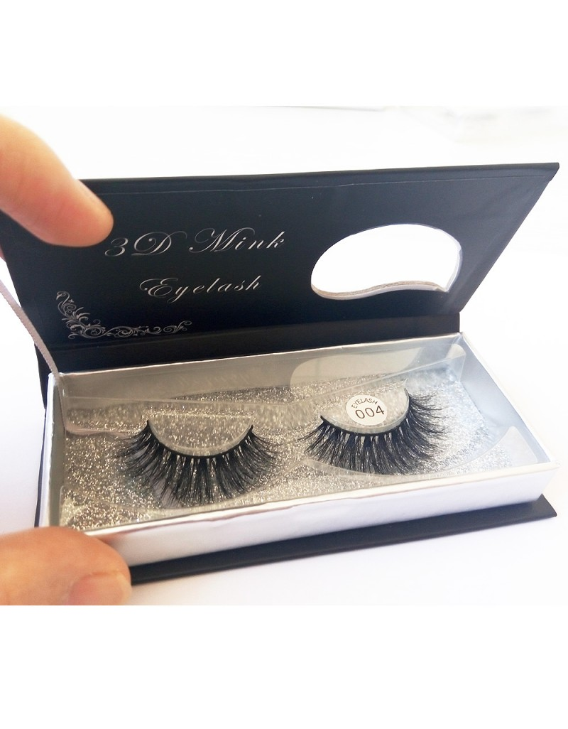 100% Handmade 3D real mink fur Lashes HD004