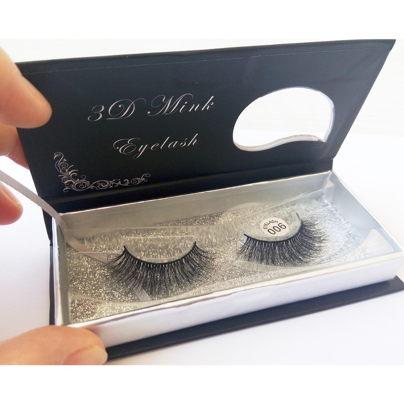 100% Handmade 3D real mink fur Lashes HD006