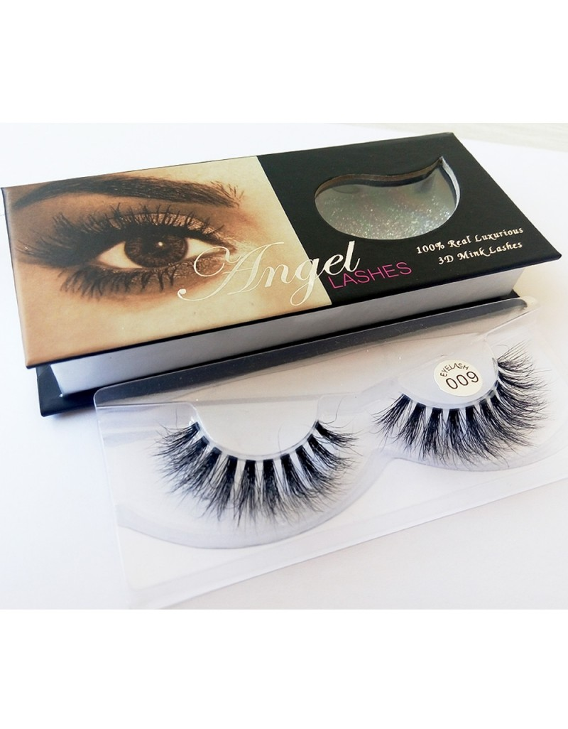 100% Handmade 3D real mink fur Lashes HD009