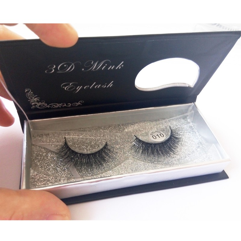 100% Handmade 3D real mink fur Lashes HD010