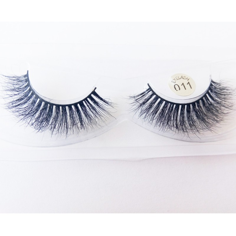 100% Handmade 1 pair high-quality 3D mink lash and 1 luxury magnet box HD011