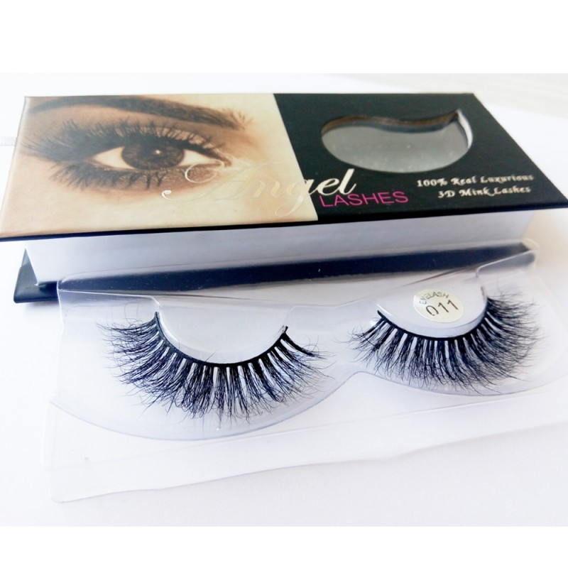 100% Handmade 3D real mink fur Lashes HD011