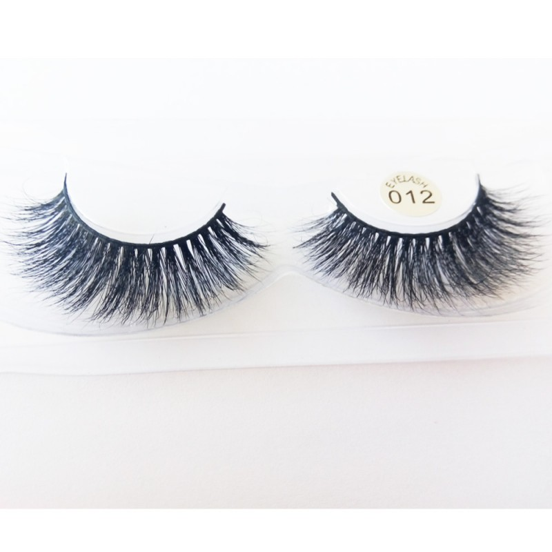 100% Handmade 3D real mink fur Lashes HD012