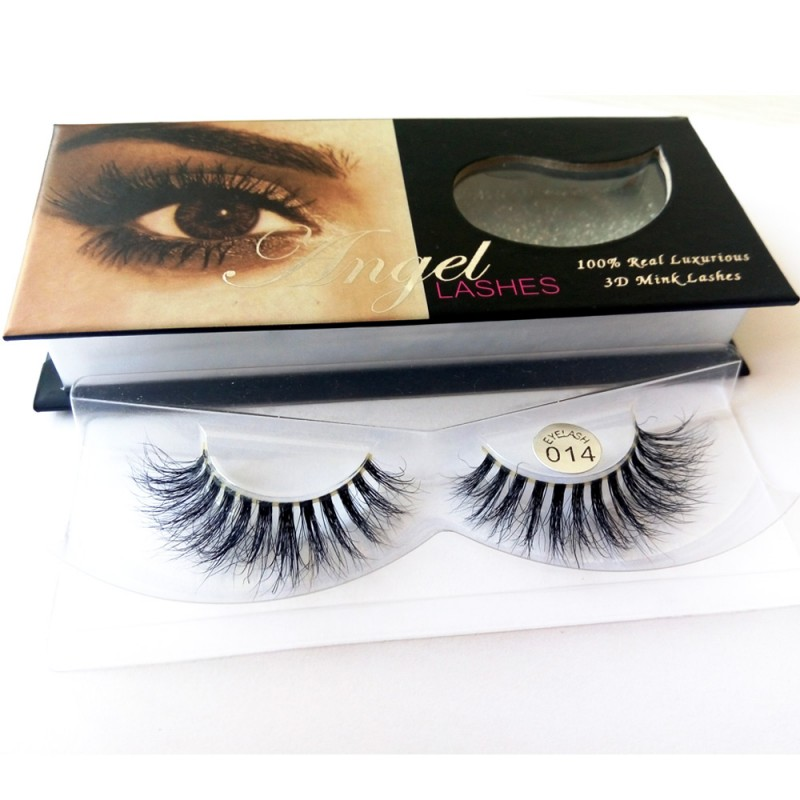 100% Handmade 3D real mink fur Lashes HD014
