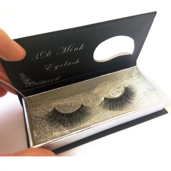100% Handmade 3D real mink fur Lashes HD015