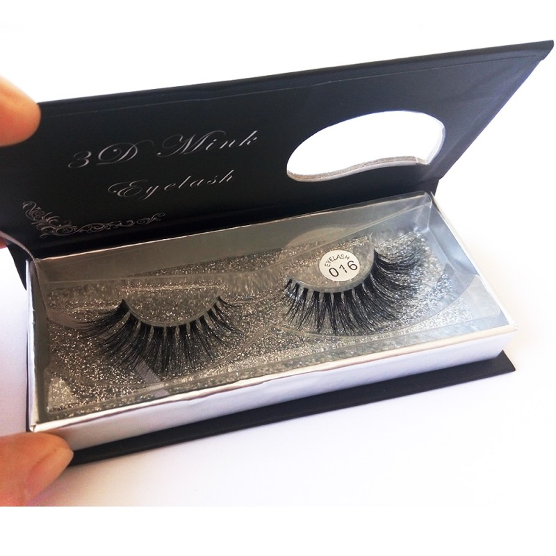 100% Handmade 3D real mink fur Lashes HD016
