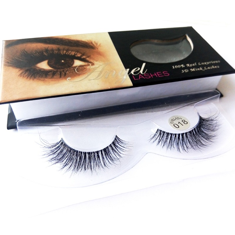 100% Handmade 3D real mink fur Lashes HD018