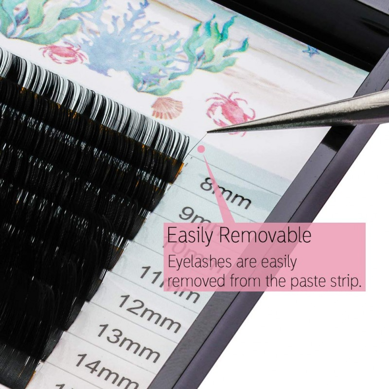 16 Rows 0.15mm C Curl 8-15 Mixed Length Individual Eyelash Extension by Obeya