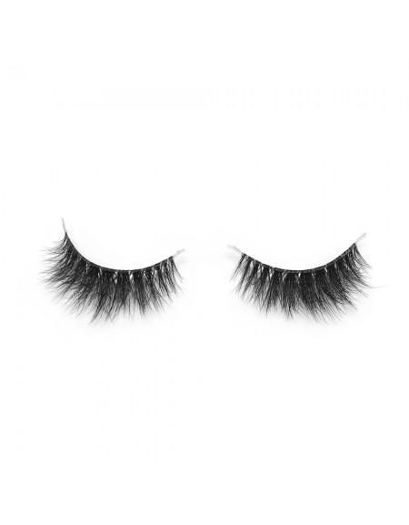3D Mink Crown Grade 100% Siberian Fur Fake Eyelashes C03