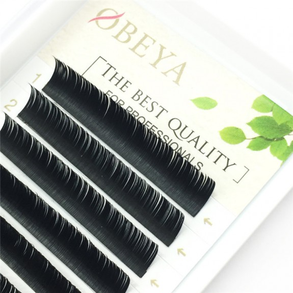 Diamond grade ellipse flat lash denser black color C Curl 0.15 mm 6-18mm Individual Lash Extensions 12 rows Wholesale Eyelash Vendors