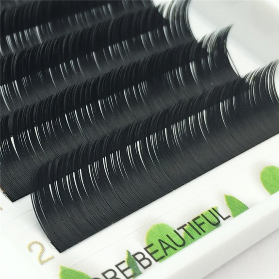 Diamond grade ellipse flat lash denser little blue  J Curl 0.15 mm 6-18mm Individual Lash Extensions 12 rows Wholesale Eyelash Vendors