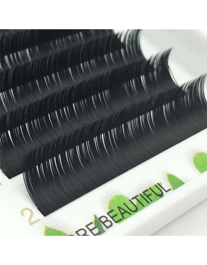 Crown grade colored split tips ellipse flat lash  J/B/C/D Curl 0.15 mm 6-18mm Individual Lash Extensions 12 rows Wholesale Eyelash Vendors