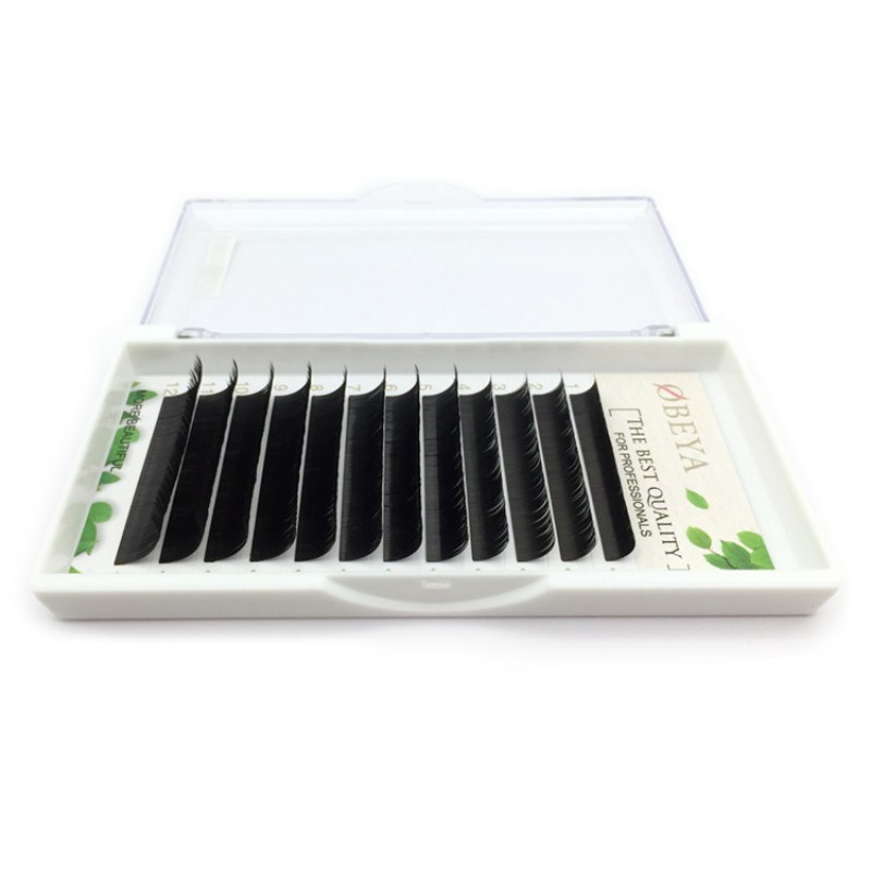 BIG SALE 0.10mm C Curl 14mm Single Length Individual Eyelash Extension Green Leaf Papercard