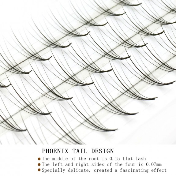 Wholesale Russian Volume 5D Fans Thickness 0.07mm C Curl 8-15mm