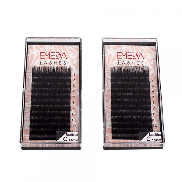 EMEDA  D Curl 3D W  Lenghth 12MM 14MM MIX Volume Cluster Eyelash Extension