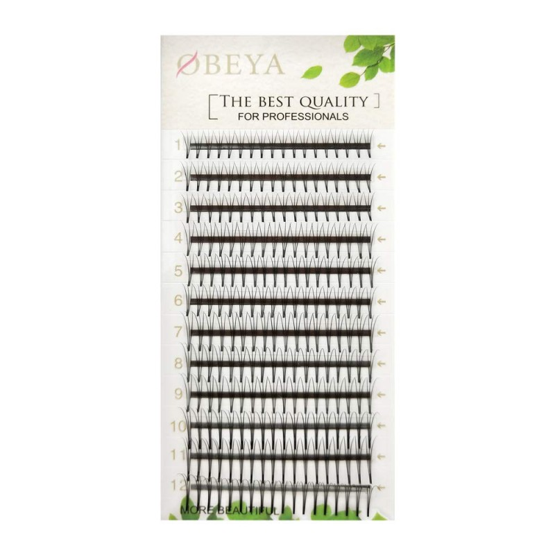 2 Trays 0.07mm/0.10mm/0.15mm C Curl Mix Tray or Single Length 3D W Shape Premade Volume Eyelash Extension