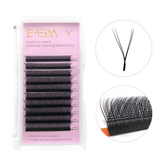 C Curl 0.07mm 8-14mm Single Length and Mix Tray Y Lash Extensions