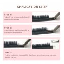 3 Packs 12 Rows  0.07mm C D Curl Automatic Blooming Flower Eyelash Extension By Emeda