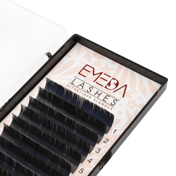EMEDA C Curl  Thichness 0.10  0.15 Lenghth 12mm 14mm mix Flat Eyelash Extensions Individual Eyelashes Light Lashes Mink False Lashes Salon Use