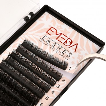 J/B/C/D Curl  0.03/0.05/0.07/0.10/0.15/0.20mm  8-14mm Single Length Eyelash Classic Eyelash Extension