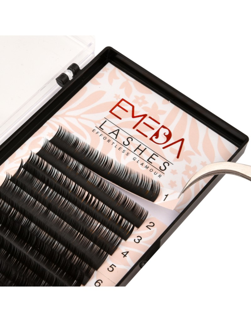 C Curl Eyelash Extensions Eyelash Extension Natural Black Lashes By EMEDA
