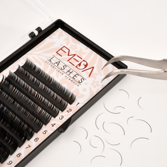 J/B/C/D Curl 0.05, 0.10, 0.15, 0.20, 0.25mm Thickness 8mm, 10mm, 12mm, 14mm Mix Length Individual Eyelash Extension