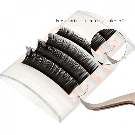 BIG SALE 0.07mm B Curl 8mm 10mm 12mm 14mm Single Length Individual Eyelash Extension