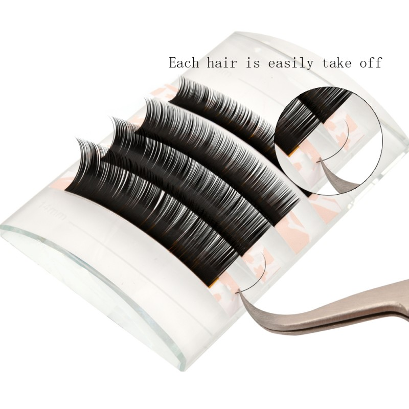 J/B/C/D Curl  0.03/0.05/0.07/0.10/0.15/0.20mm Thickness 8-14mm Single Length Eyelash Classic Eyelash Extension