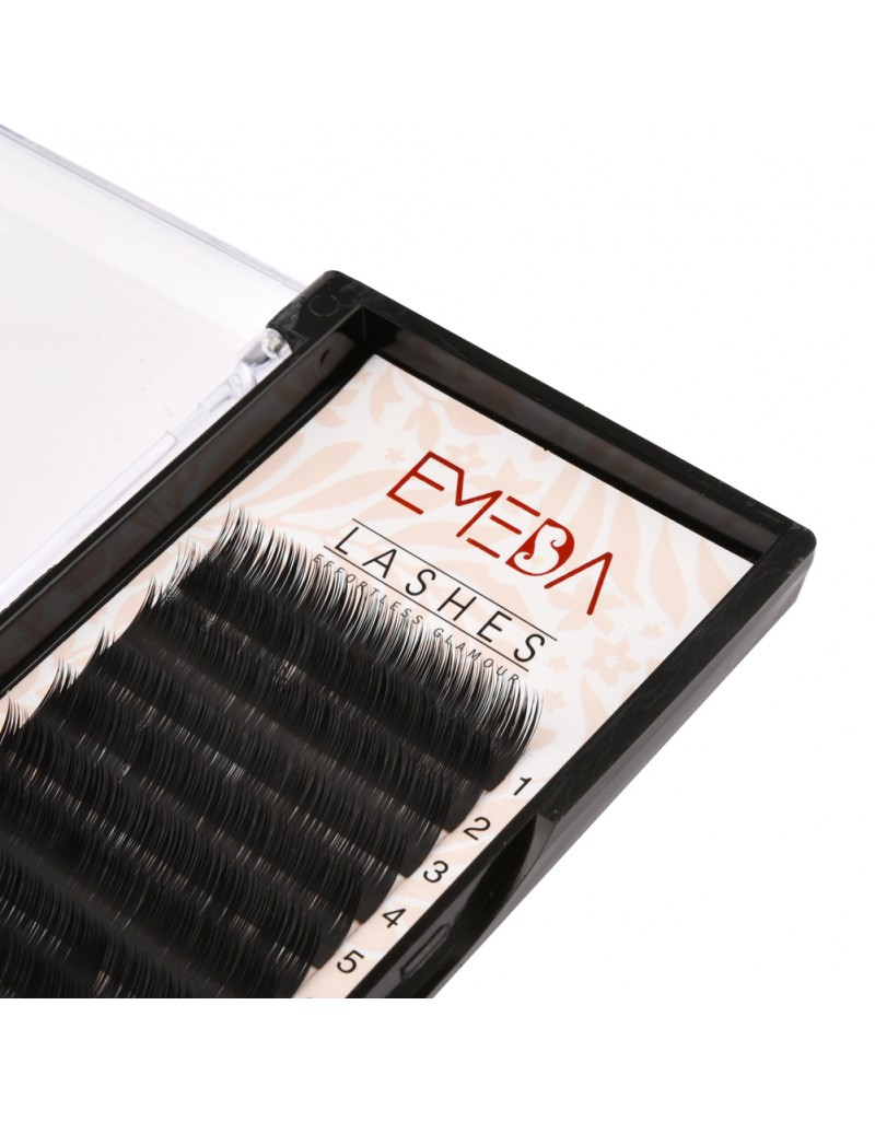 EMEDA Camellia Eyelash Pandora C 0.07  Eyelash Extensions Mixed Length in One Lash Strip Fancy Packing Lash Box(9-10-11mm)