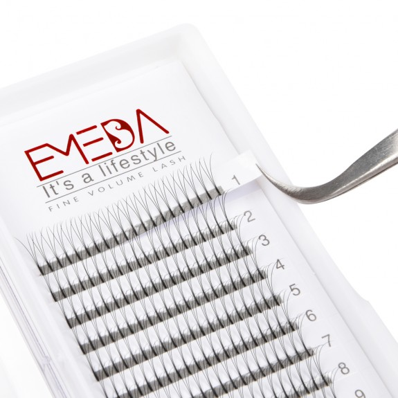 EMEDA 3D D Curl Volume fans Cluster Eyelash Extension False Eyelashes Individual Lash Extensions