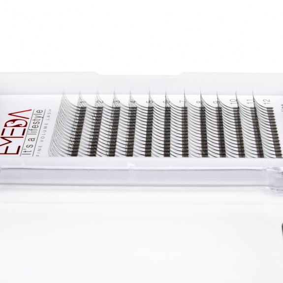 EMEDA C Curl 3D W Volume Thickness 0.07 0.10 Lenghth 12mm 14mm mix Eyelash Extensions Cluster False Eyelashes Individual Lash Extensions