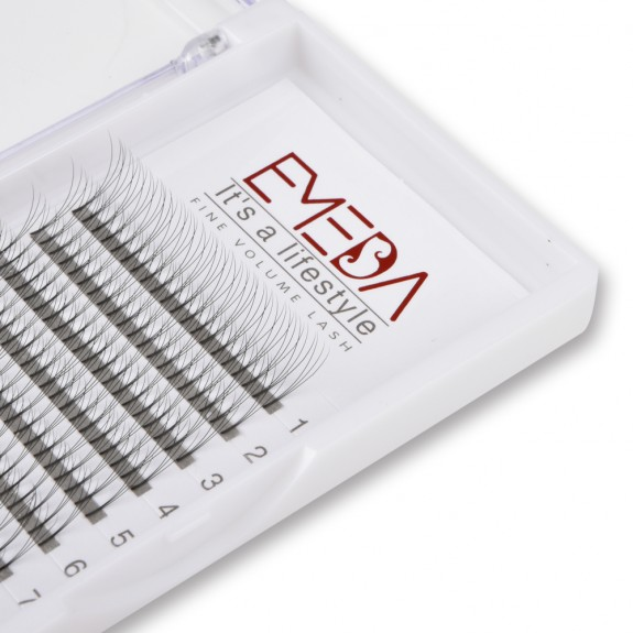 EMEDA D Curl 3D W Volume Thickness 0.07 0.10 Lenghth 12mm 14mm mix Eyelash Extensions Cluster False Eyelashes Individual Lash Extensions