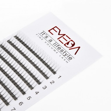EMEDA 3D C Curl Volume fans Cluster Eyelash Extension False Eyelashes Individual Lash Extensions