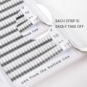 EMEDA 3D C D Curl  0.1mm Premade Fans Eyelash Extension