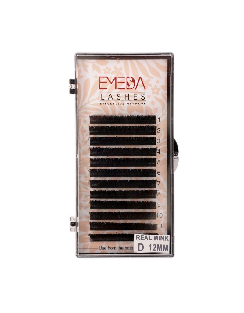 D Curl Real Mink Individual Eyelash Extensions 100% Real Siberian Mink Fur Lashes by EMEDA