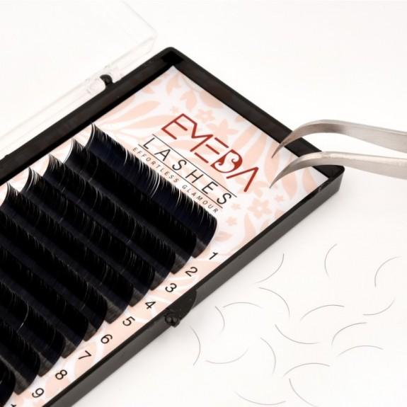 J Curl Length 8-15mm Eyelash Extensions Eyelash Extension Natural Black Lashes By EMEDA