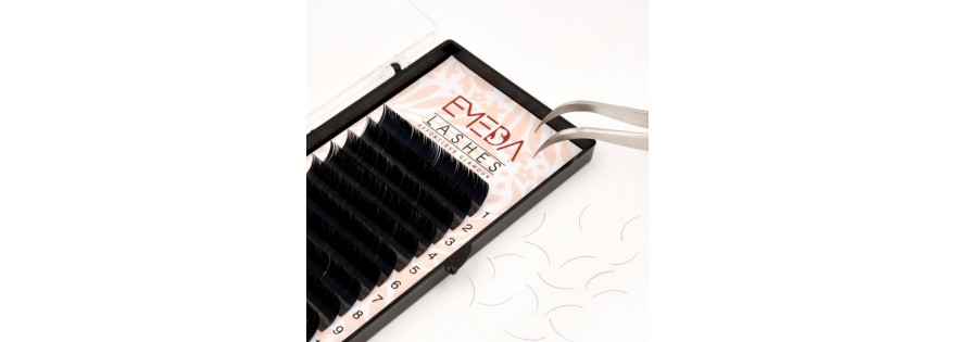 Flat eyelash extension
