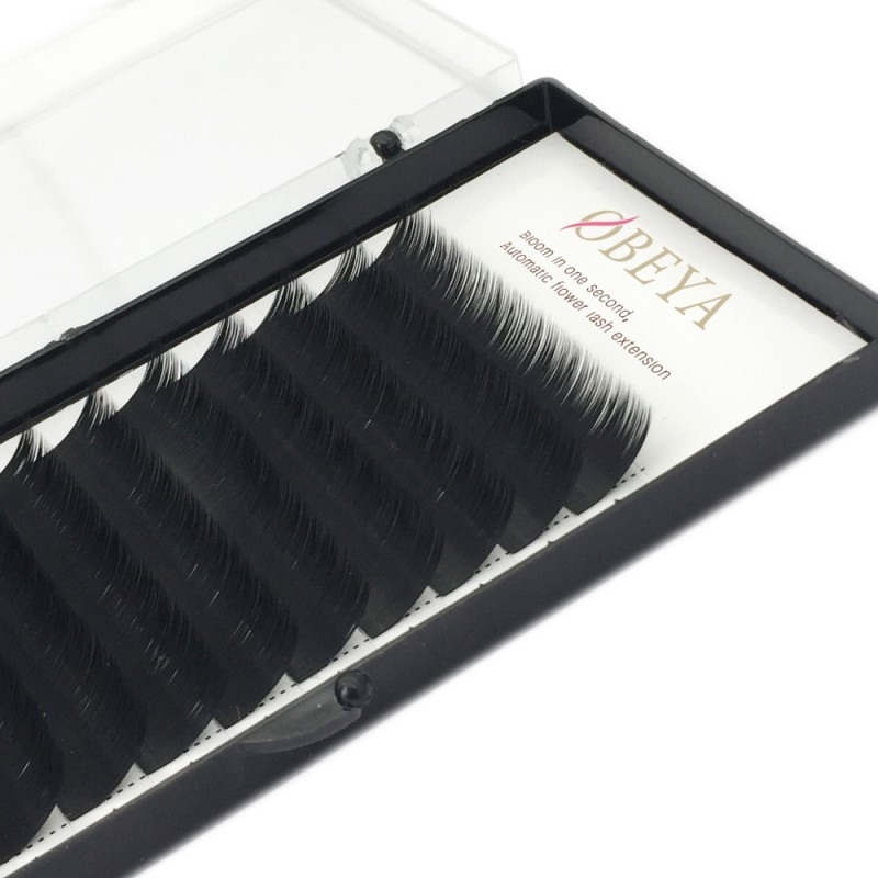 Volume Eyelash Extensions D Curl 2D 3D 4D 5D 6D~10D Easy Fan Cluster Automatic Blooming Flower Eye Lash Extension .07 8mm 10mm 12mm 14mm 0.07 Russian Individual Lashes(8-15mm Mixed Tray 0.07 D)