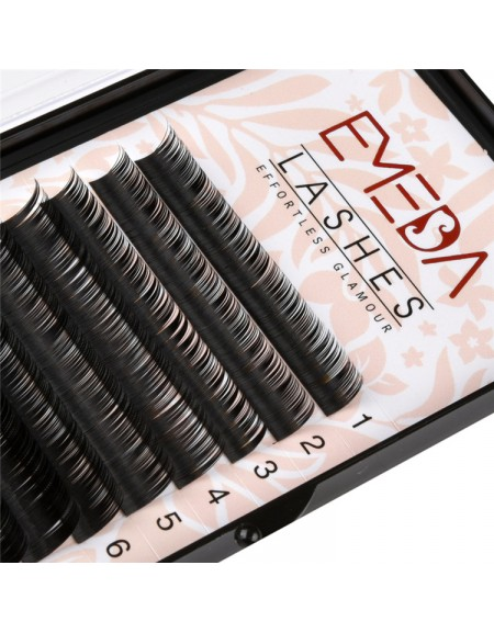 B Curl  Length 8-15mm  Eyelash Extensions Eyelash Extension Natural Black Lashes By EMEDA
