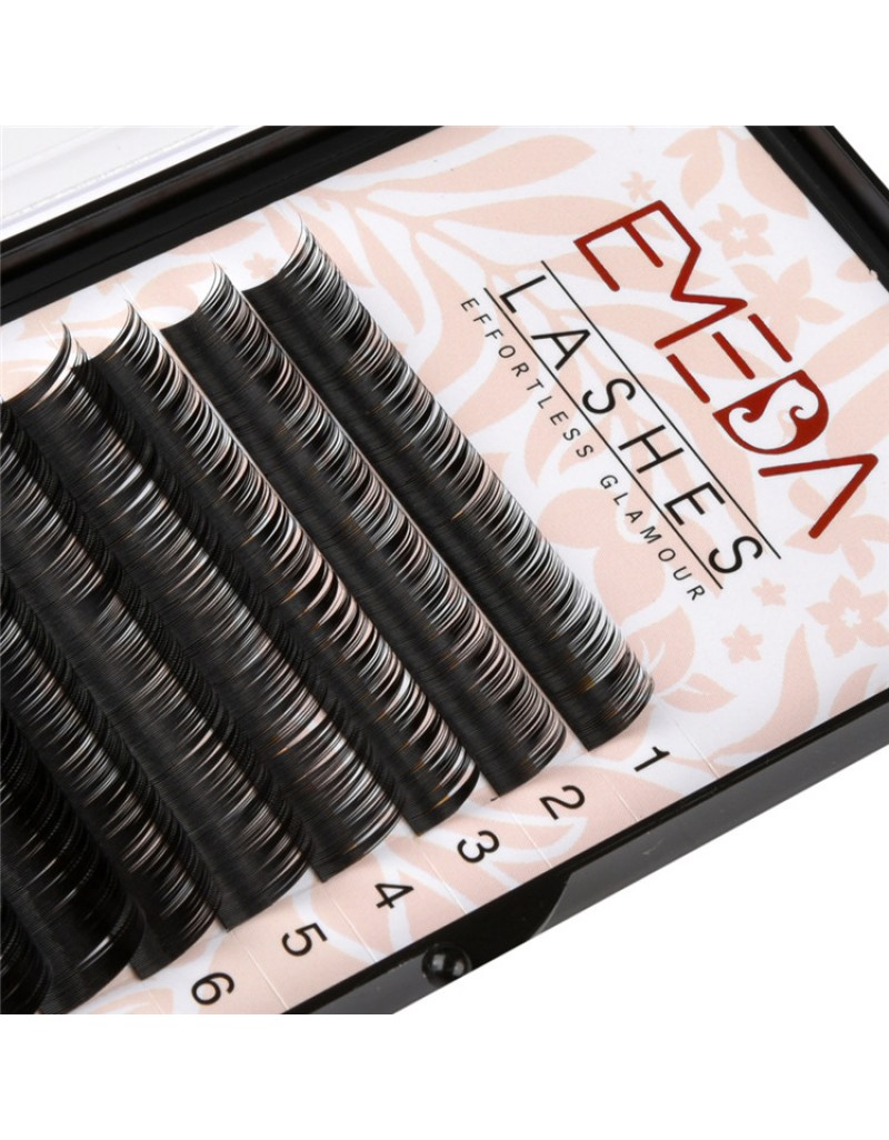 EMEDA  C Curl 3D W Thickness 0.07 0.10 0.15 Lenghth 12MM 14MM MIX Volume Cluster Eyelash Extension False Eyelashes