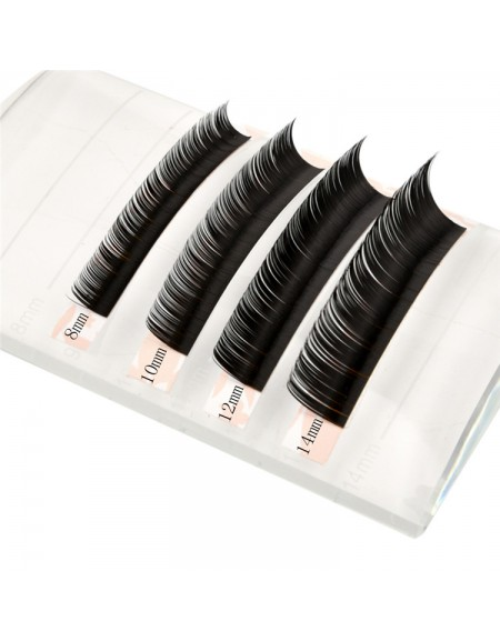 EMEDA  C Curl 3D W Thickness 0.07 0.10 0.15 Lenghth 12MM 14MM MIX Volume Cluster Eyelash Extension False Eyelashes